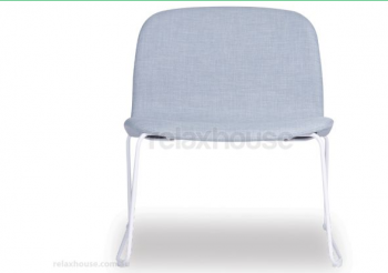 FLIP LOUNGE CHAIR SKY GREY PAD WITH WHIT