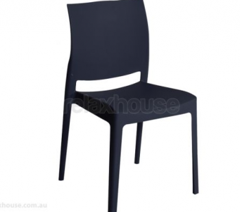 LEONIE OUTDOOR DINING CHAIR - BLACK