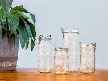 Vintage Glass Jar Lantern