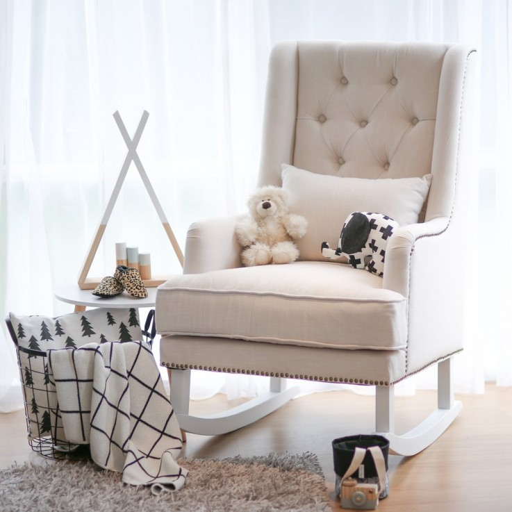 Pleasing Alba Rocking Chair Off White Keilor Park Vic Australia Unemploymentrelief Wooden Chair Designs For Living Room Unemploymentrelieforg