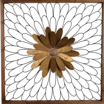 COPPER FLORAL WALL HANGING