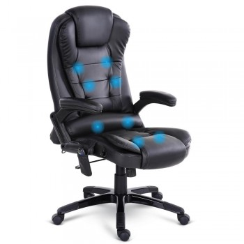 8 Point Massage Executive PU Leather Off