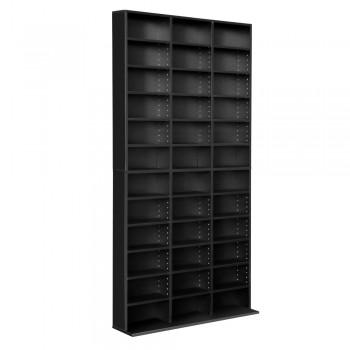 Adjustable CD DVD Book Storage Shelf Bla