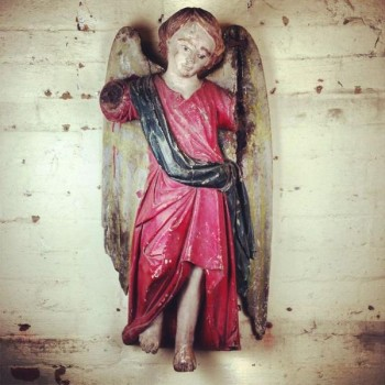 HAND CARVED ANGEL STATUE