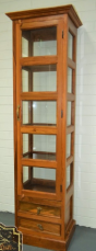 Indian Teak & Glass Display Cabinet
