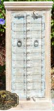 Shabby Chic Antique Blue Door Wardrobe