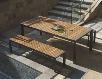 VYDEL OUTDOOR SOLID TEAK DINING TABLE
