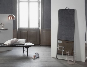 NORM FLOOR MIRROR IN BLACK BY NORM