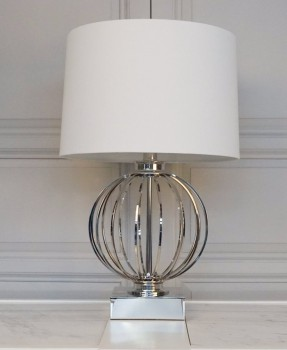 NEW YORK METAL GLASS LAMP