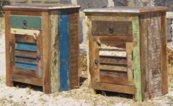 RECLAIMED TIMBER BEDSIDE TABLES