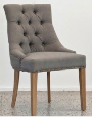 FRENCH PROVINCIAL LINEN DINING CHAIRS
