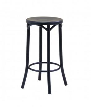 Bentwood stool, high, metal