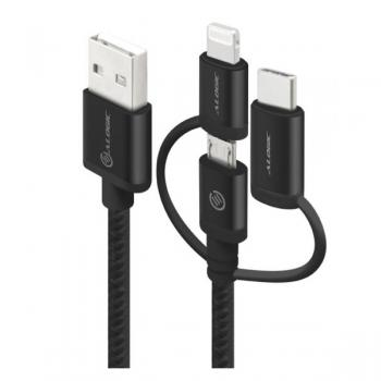 Alogic 3-in-1 Charge & Sync Cable - Micr