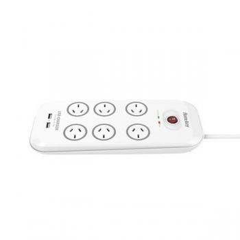 HUNTKEY 6 Outlet Powerboard Dual USB