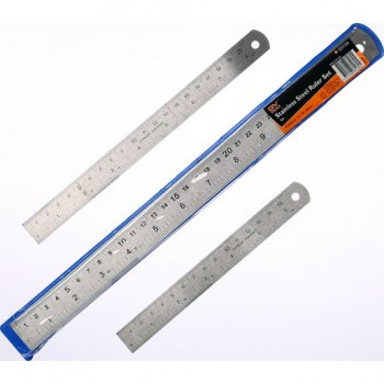 GV Tools Stainless Steel Ruler Set 3pc