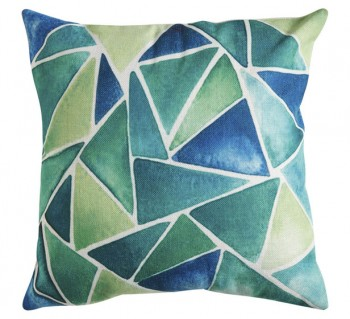 Daintree Triangles Cushion