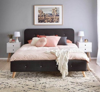 Buttons Queen Bed