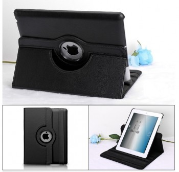 Ipad mini Leather Stand Holder Case Blac