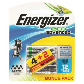 Energizer Eco Advanced AAA Batteries (4p