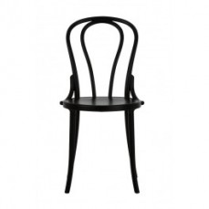 Outdoor Black Plastic Bentwood Chair