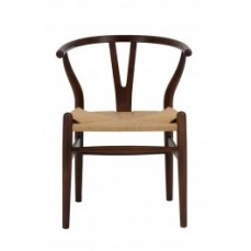 Replica Wishbone Chair in Dark Walnut wi