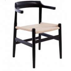 Black Hans Wegner PP68 Dining Chair Repl