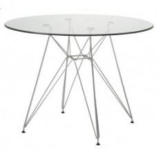 Replica Charles Eames Round 100cm Glass
