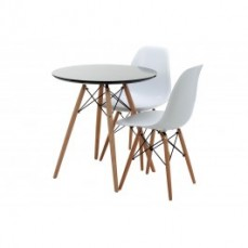Replica Eames Round Wood Leg Table - 70