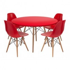 Replica Eames Table and Eames Chairs (Se
