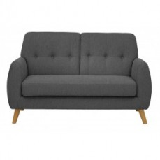 Grey Linen Sixties Sofa