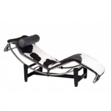 Replica LC4 Chaise Longue Black and Whit