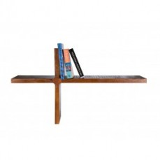 Wall Mounted Wooden Bookshelf