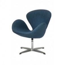 Blue Linen Swan Chair Replica