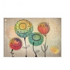Bobbies Poppies Art Print