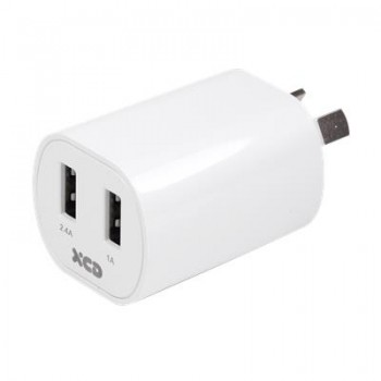 XCD Essentials 3.4A Dual Wall Charger (B