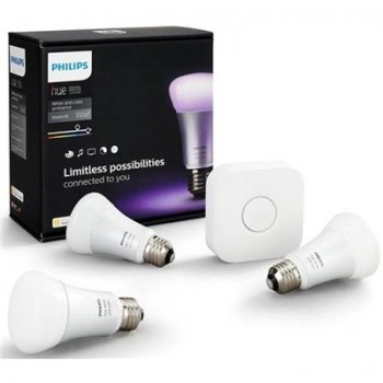 Philips Hue E27 Starter Kit A60 White &