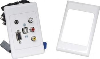 P5958 • VGA 3.5mm USB B and RCA Wallplat