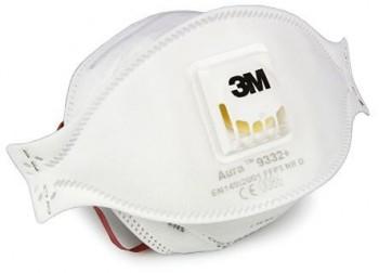 3M 9332+ FFP3 Disposable Face Mask, Valv
