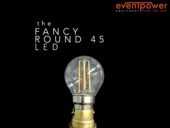 4W LED CLEAR FANCY ROUND GLOBE B22 BAYON