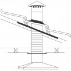 Abey 125mm Steel Roof Rangehood Flue/Ven