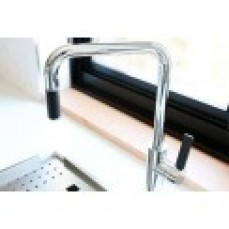 Abey Square Black Spout & Lever Chrome P