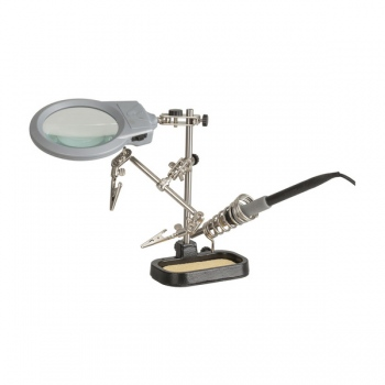 DURATECH PCB holder with LED Magnifier a