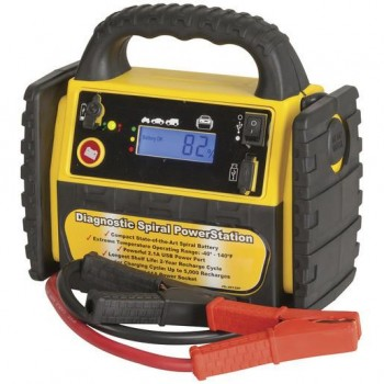 12V 3-in-1 Jump Starter with Spiral Woun