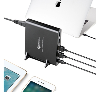 80W 5 PORT QC3.0 USB, TYPE-C AND LAPTOP