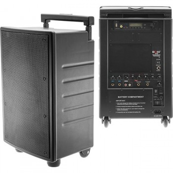40W RMS PORTABLE SOUND SYSTEM W/ DVD MP3