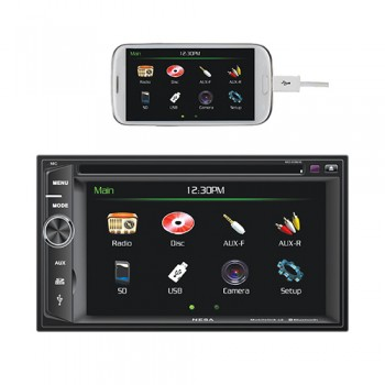 Double DIN DVD Player with 6.2″ Touchscr