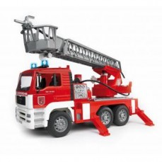 BRUDER MAN FIRE ENGINE WITH SELWING LADD