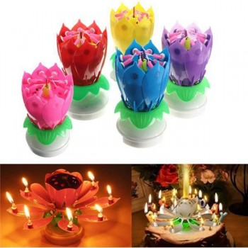 New Lotus Flower Candles Rotation Music
