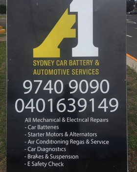 A1 car battery replacement in Sydney