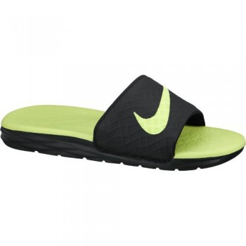 Nike Benassi Solarsoft (Black/Volt) - Me
